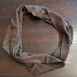 NWOT Brown & Gold Sparkle Infinity Scarf
